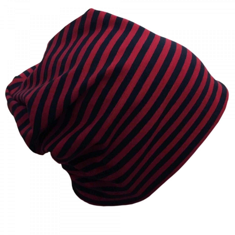 "Cap ""Line"" navy-red ringed organic cotton | bingabonga"