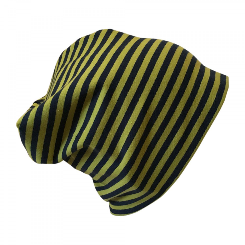 "Cap ""Line"" navy-moss ringed organic cotton | bingabonga"