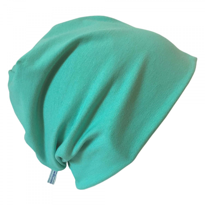 "Organic Cotton Cap ""Line"" plain Mint-Green | bingabonga"