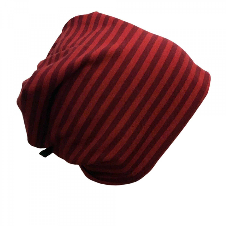 "Red ringed Cap ""Line"" made of organic cotton | bingabonga"