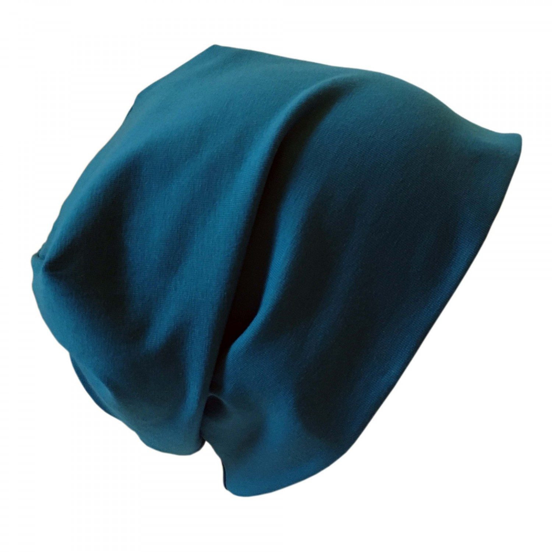 "Organic Cotton Cap ""Line"" plain Petrol-Blue | bingabonga"