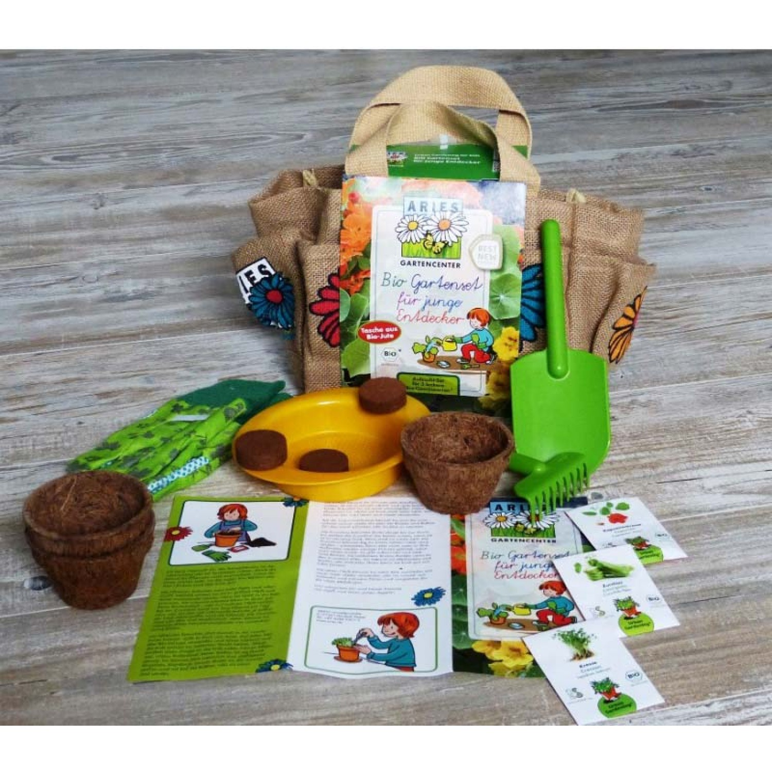 Children's Organic Garden Set by Aries Eco Products