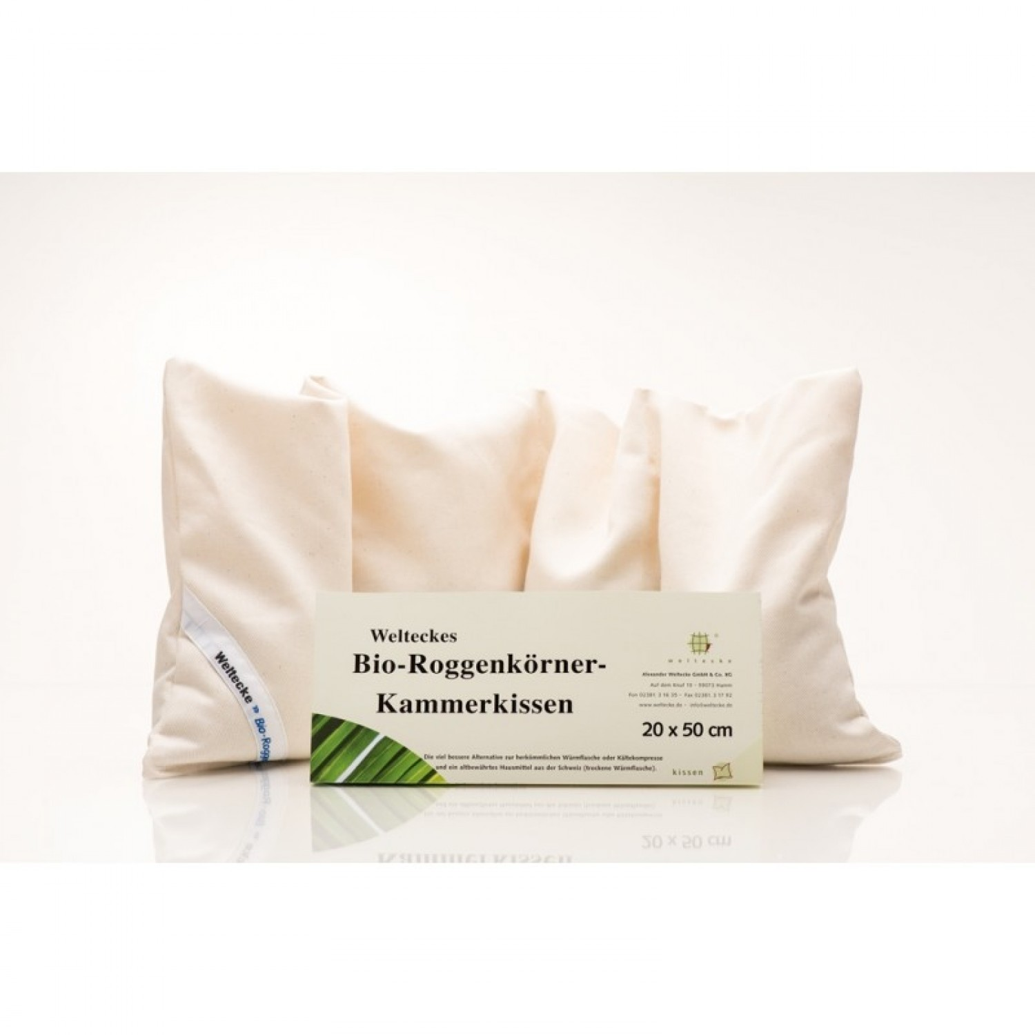Organic Rye Grains Pillow 20x50 | Weltecke