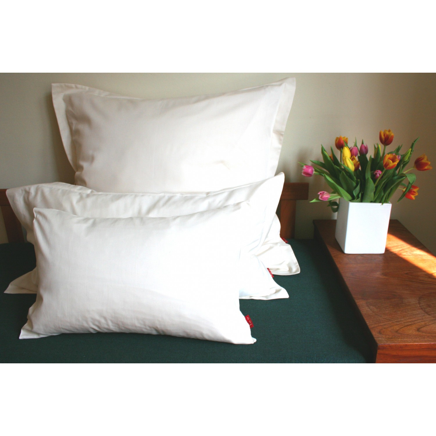 Luxurious Pillowcase of organic cotton Satin Pure | iaio