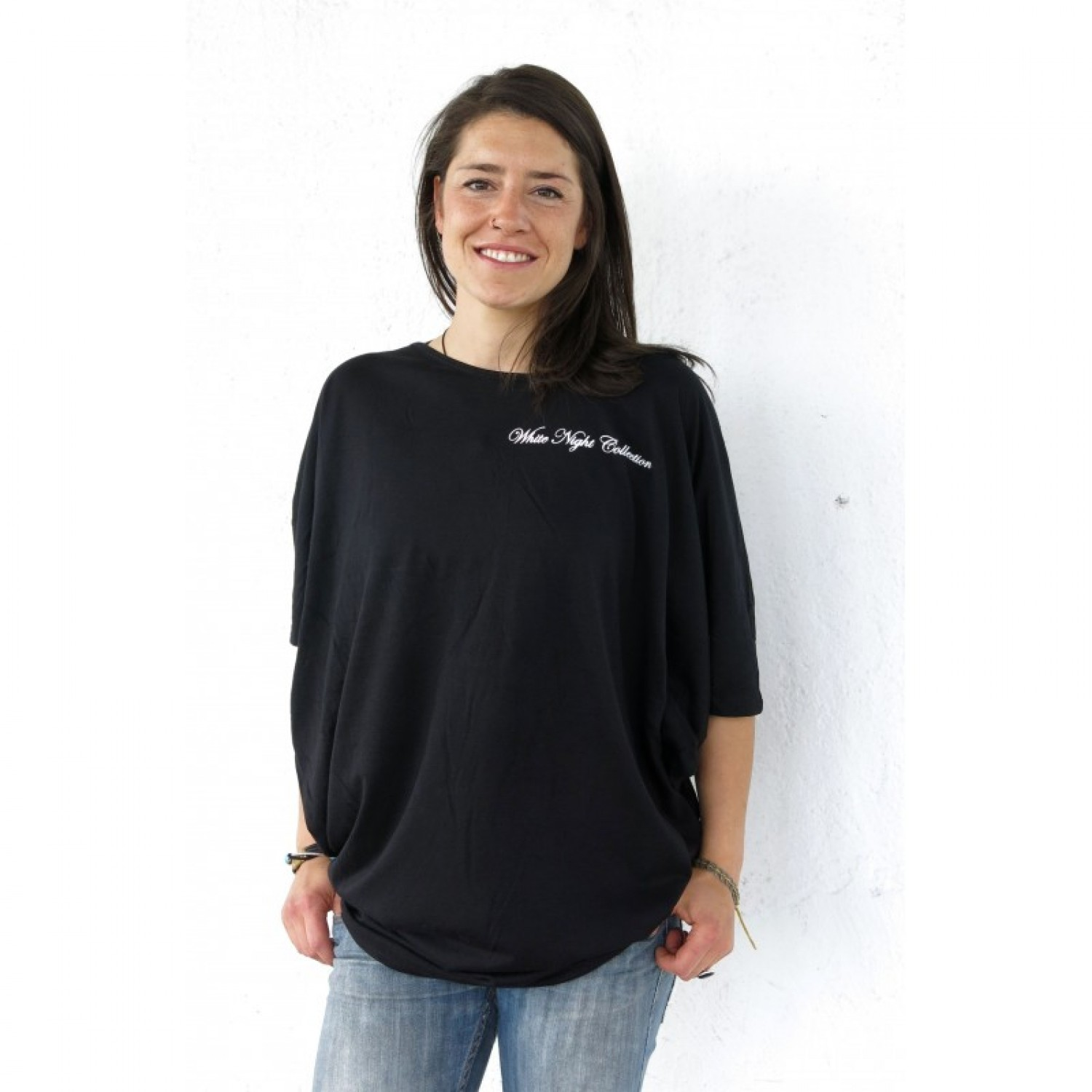 Black Night Lyocell Designer Shirt