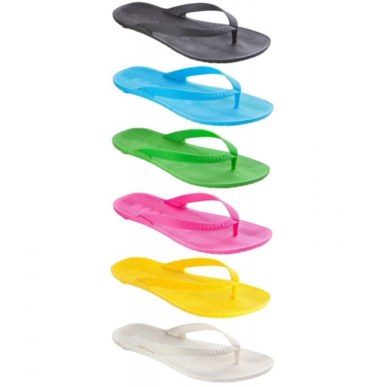 Women Eco Flip Flops Lilli basic naked, plain | Boombuz