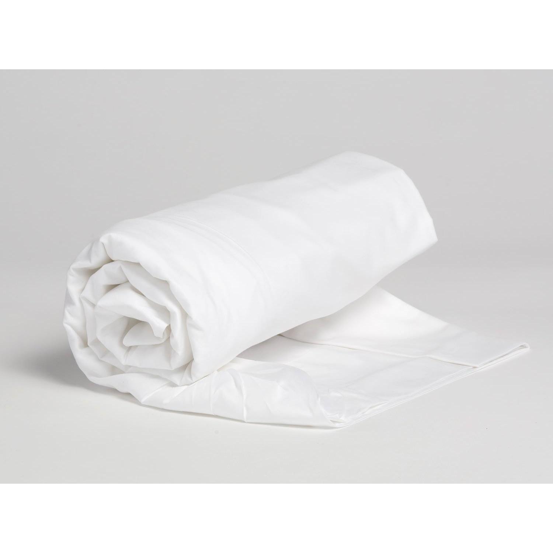 Spannbettlaken Baumwollsatin Pure White