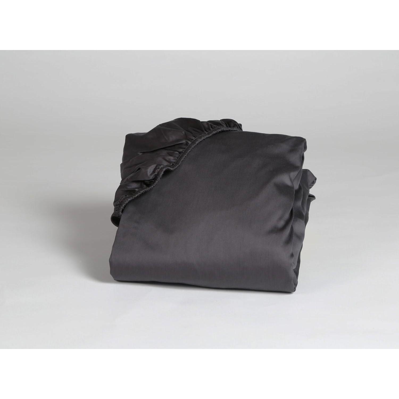 Spannbettlaken Baumwollsatin Dark Anthracite