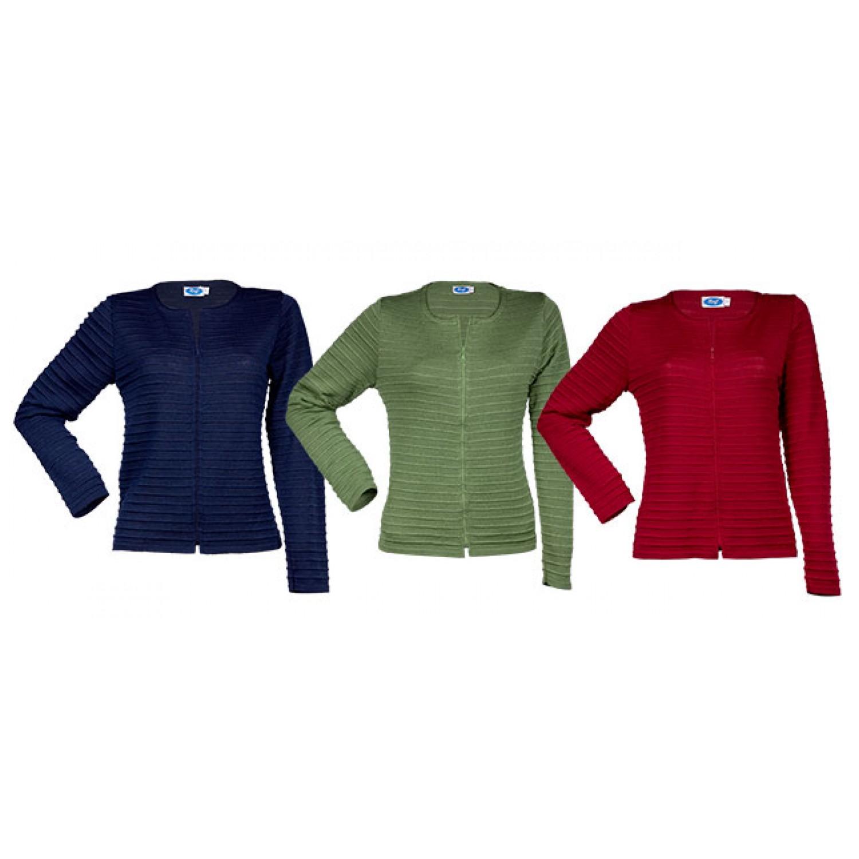 Women Cardigan Lille of certified Merino Wool + Silk