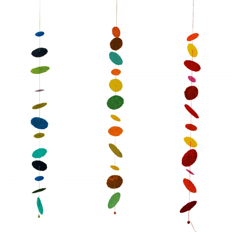 "Decorative Garland ""Cascade"" made of recycled papier mâché"