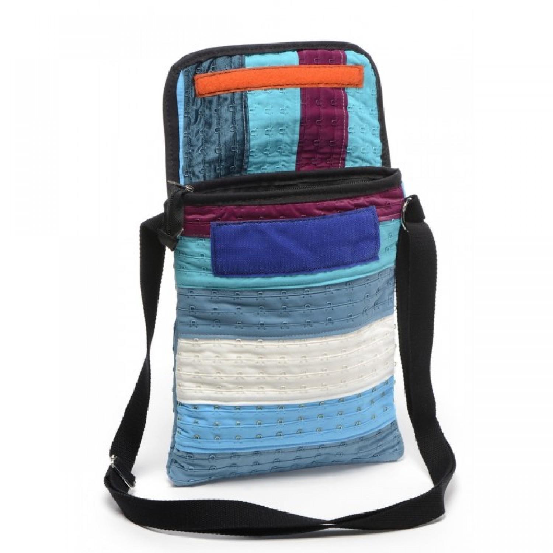 Upcycled handbag Clémentine of bra straps | Marron Rouge