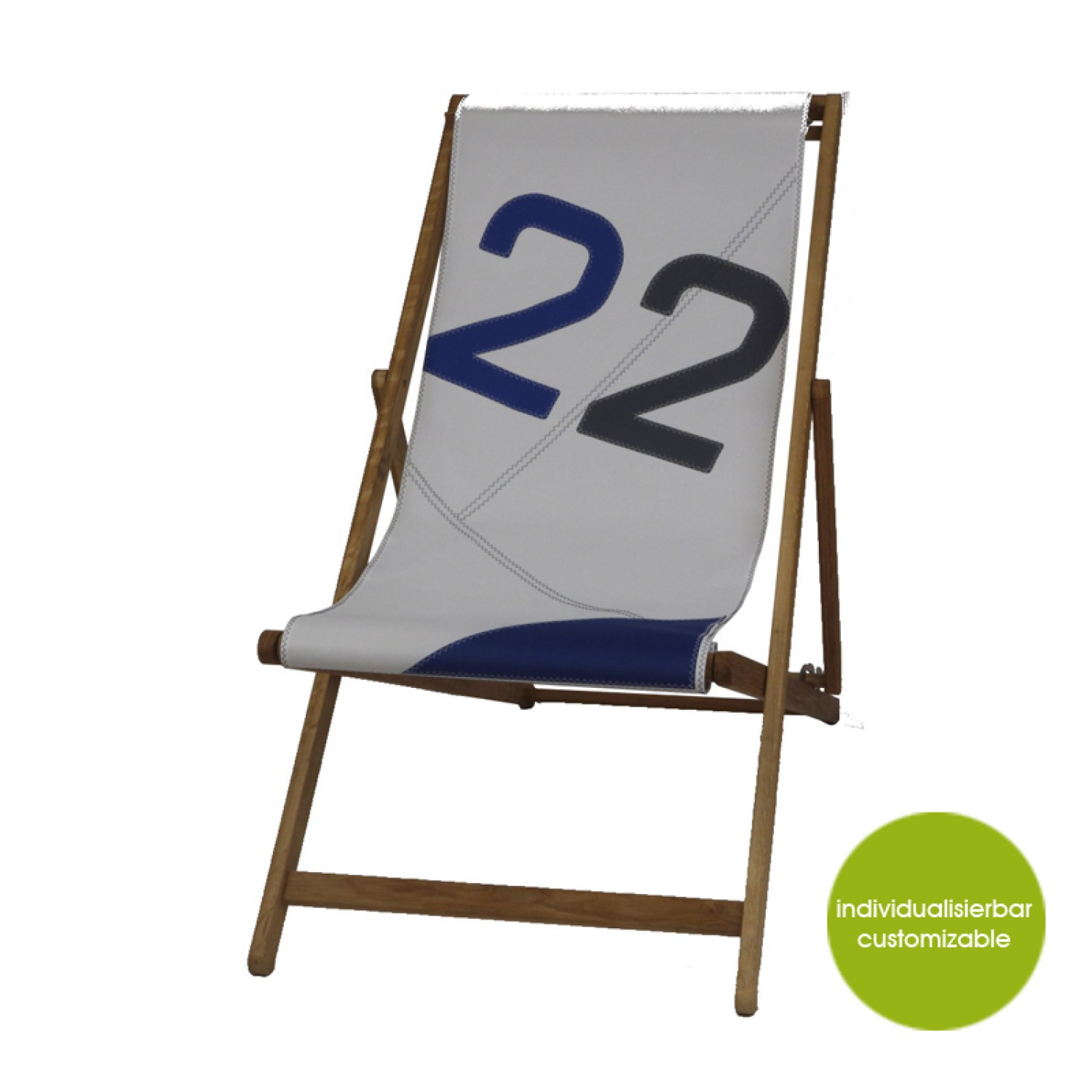 Deckchair »Transatlantic 3« aus Recycling Canvas | Marron Rouge