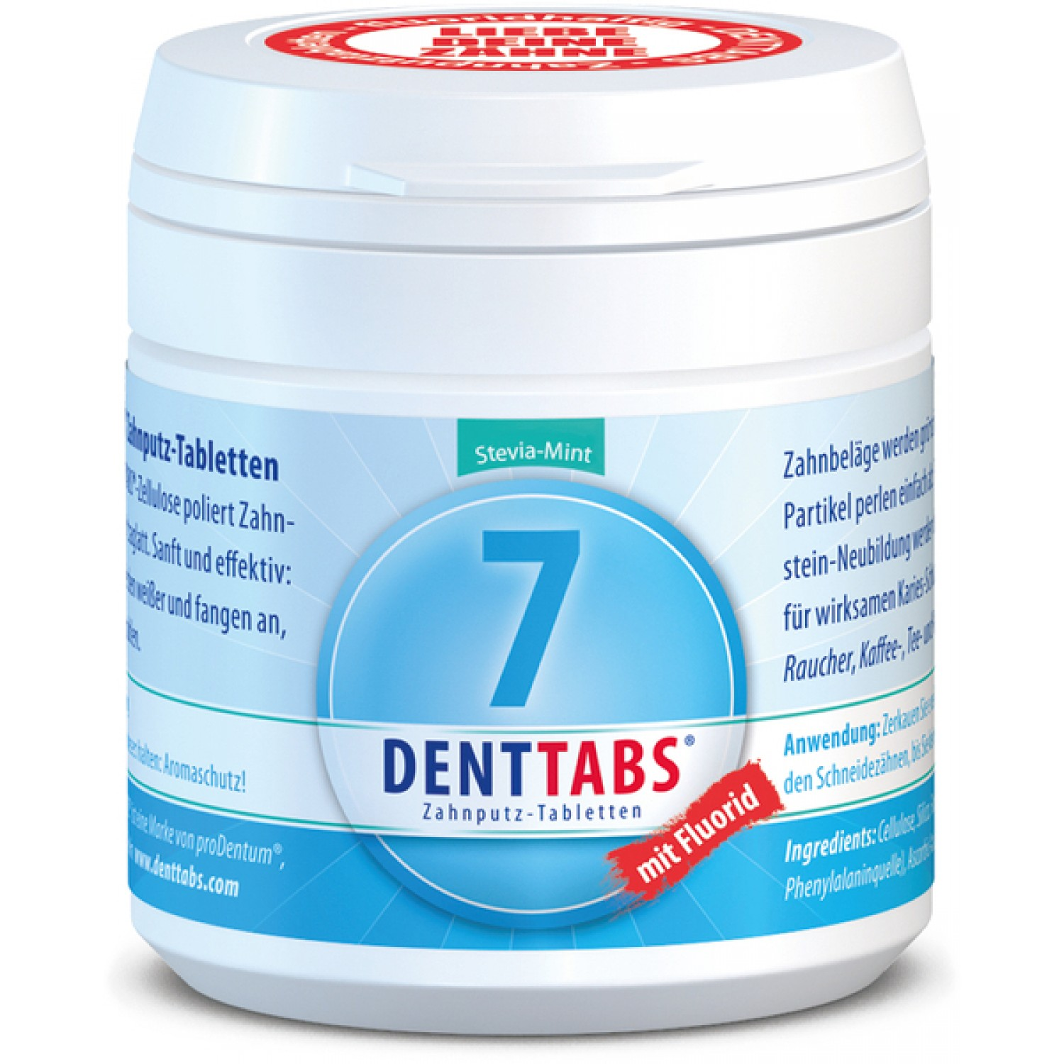 DENTTABS with fluoride for pastic-free natural dental care