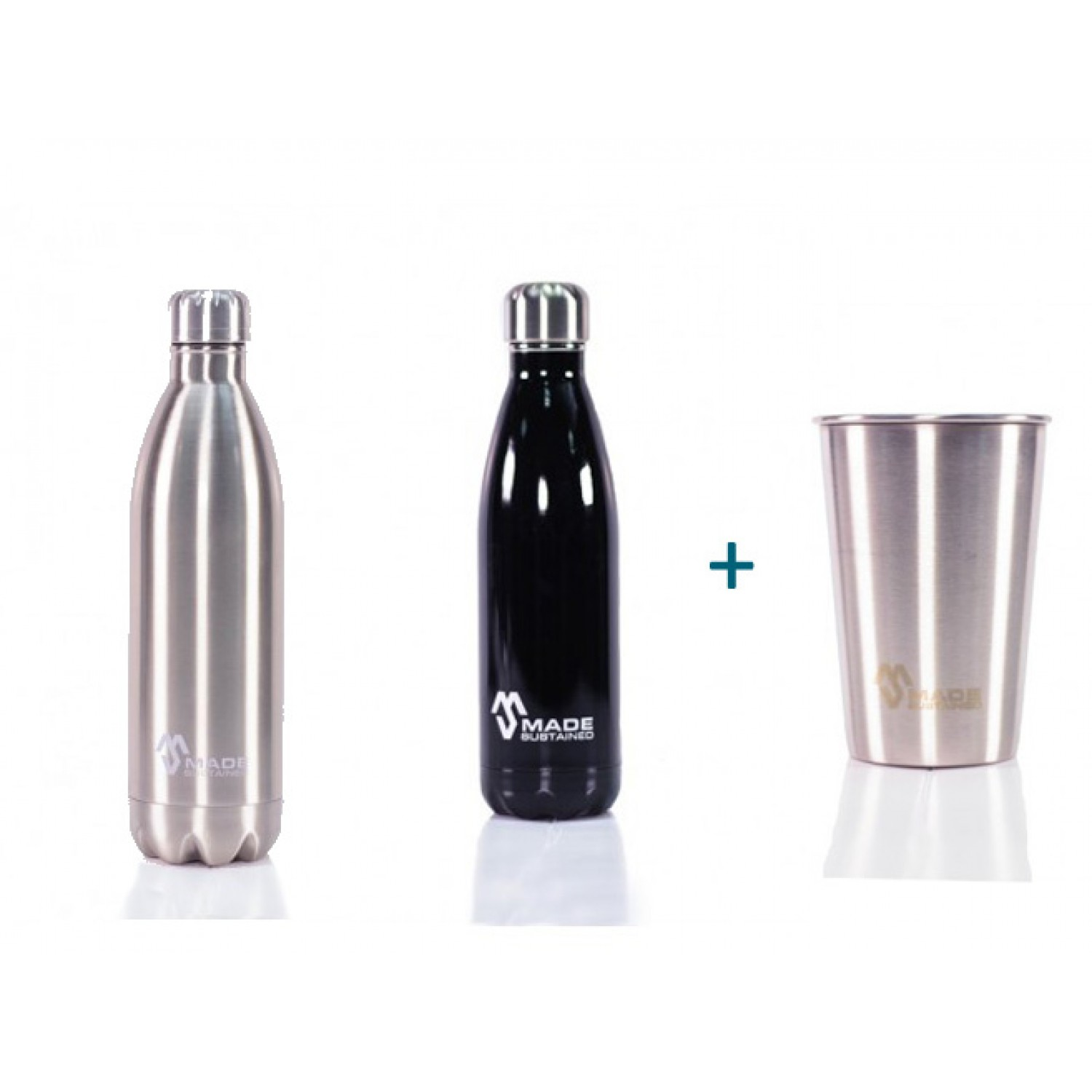Stainless Steel Bottle + Cup
