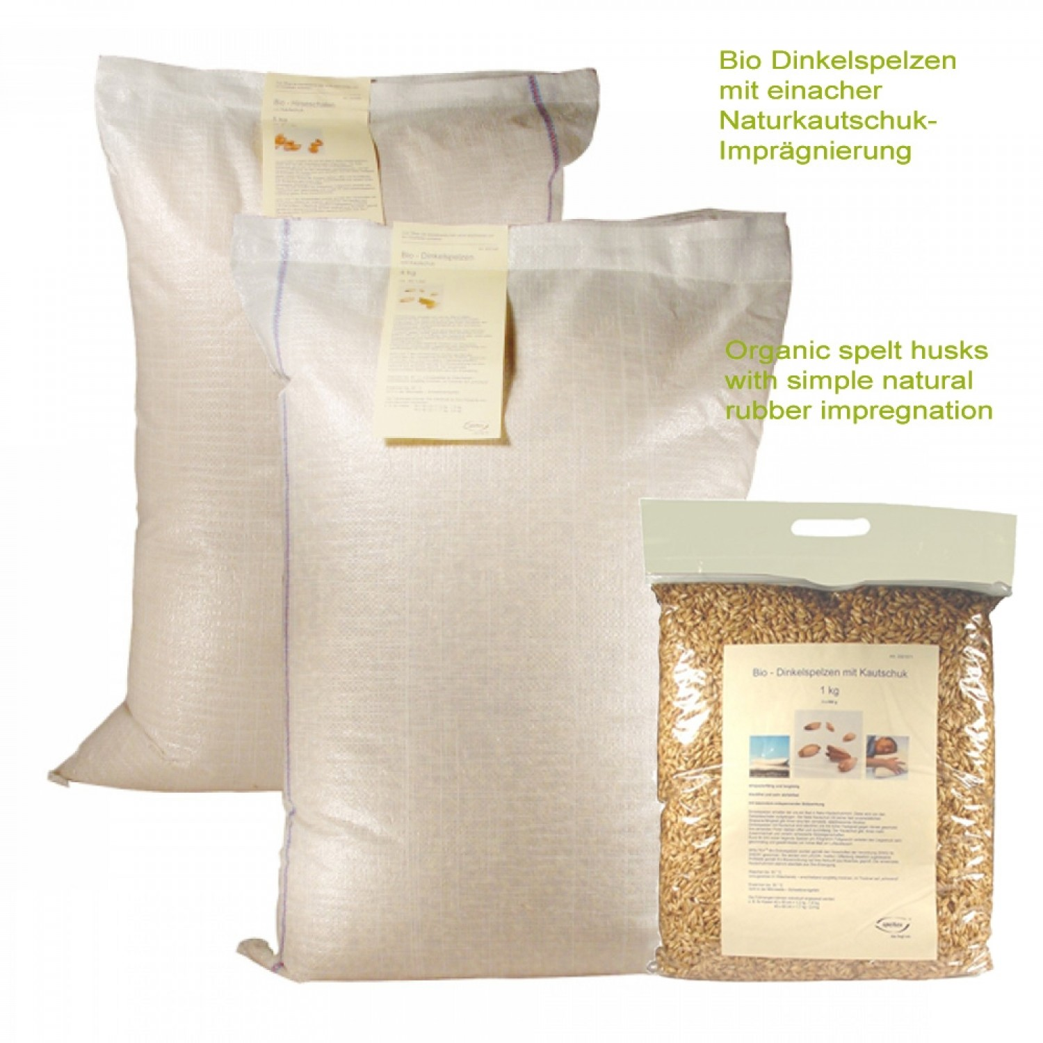 Organic spelt with natural rubber – refilling bag | speltex