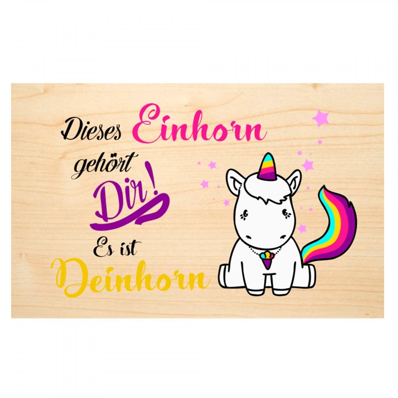 Unicorn - wooden postcard of PEFC® beechwood | Biodora