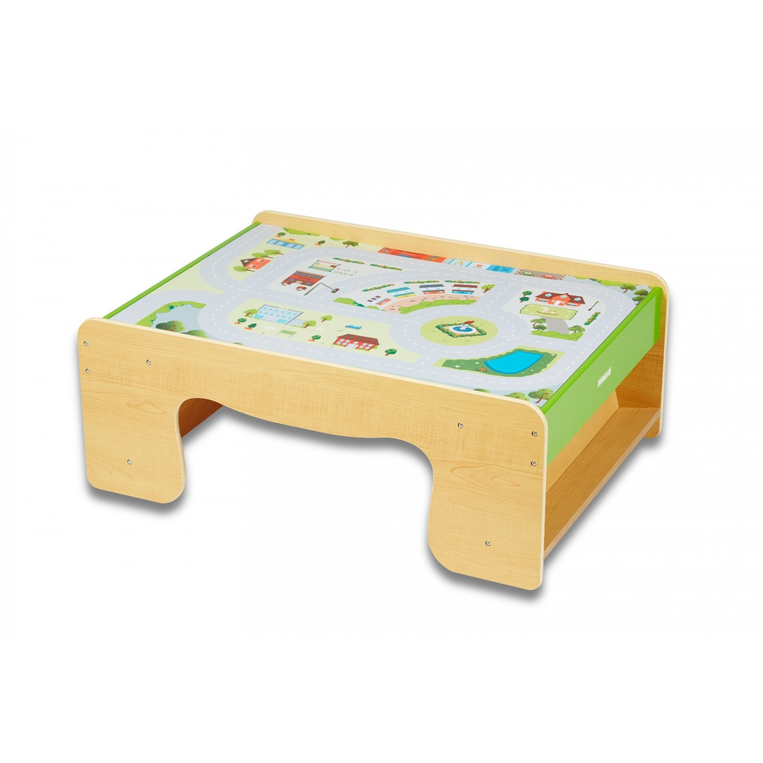 EverEarth Wooden Train Table made of FSC wood
