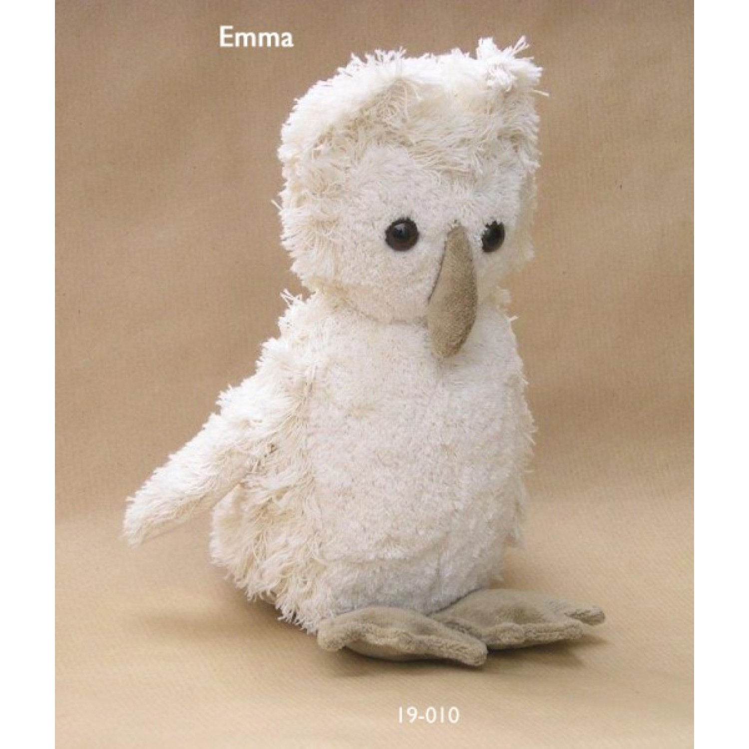 Emma the snow owl made of organic cotton | Kallisto