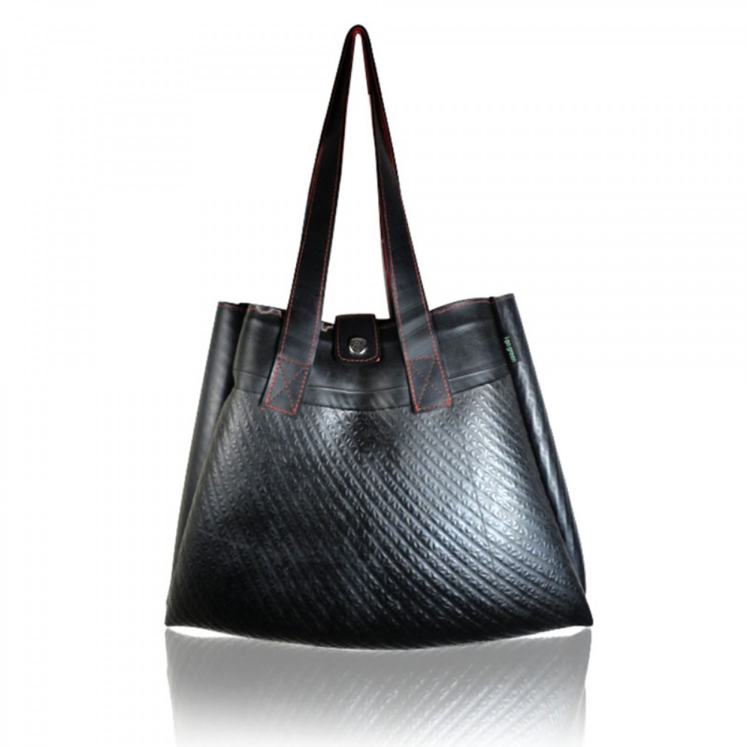 Elegant handbag from tire tubes 'Rocklane' | Ecowings