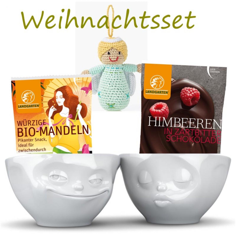 Fiftyeight Products Weihnachtsset Porzellan & Knabbereien