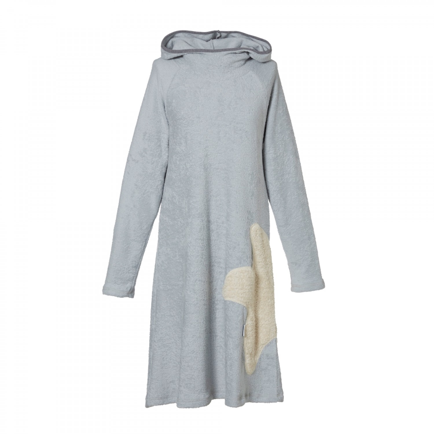 Eco Terrycloth Hoodie Dress Women Light Grey | early fish