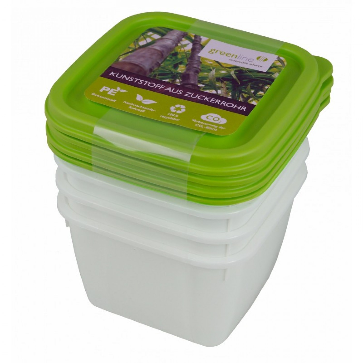 Greenline deep-freeze food container 0.5 l 4-part | Gies
