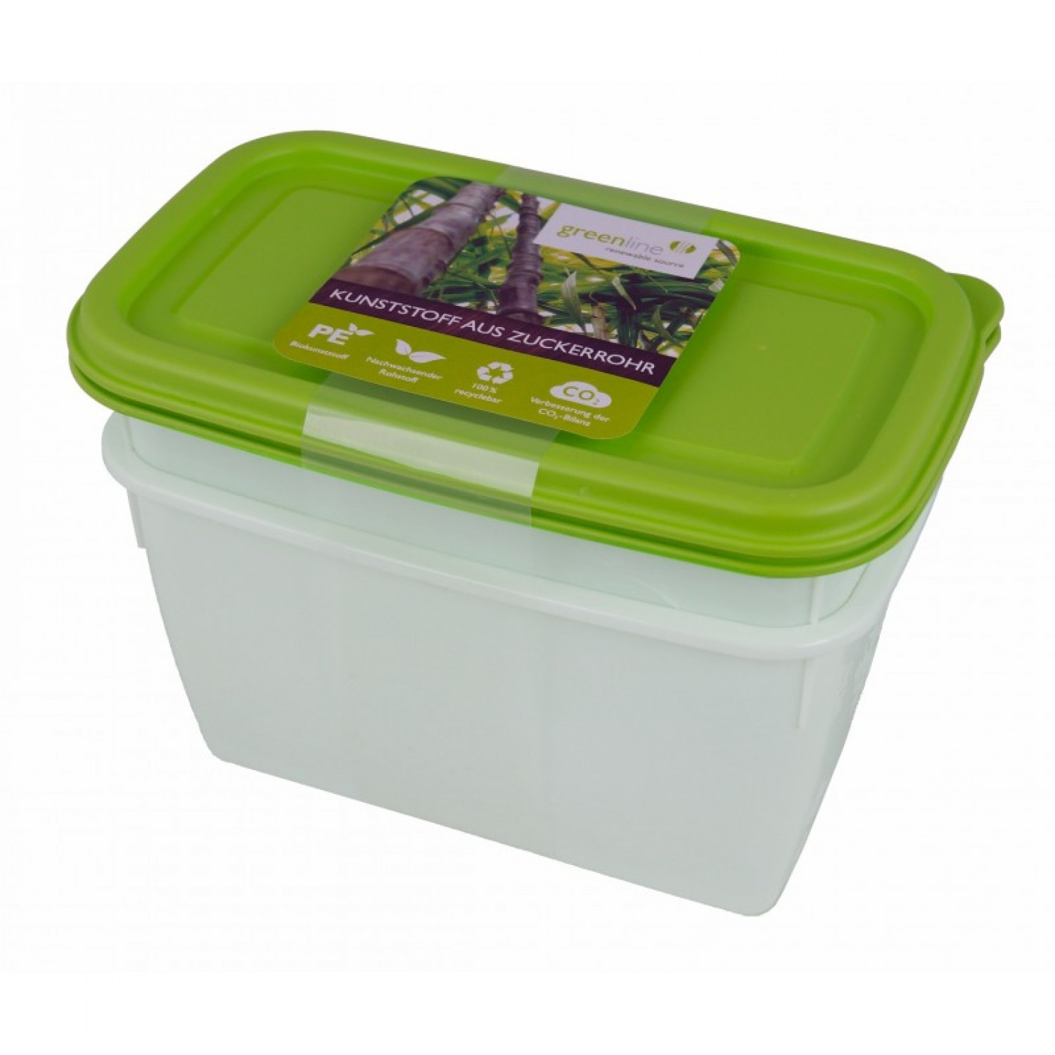 Greenline deep-freeze food container 1 l in 2-part set | Gies
