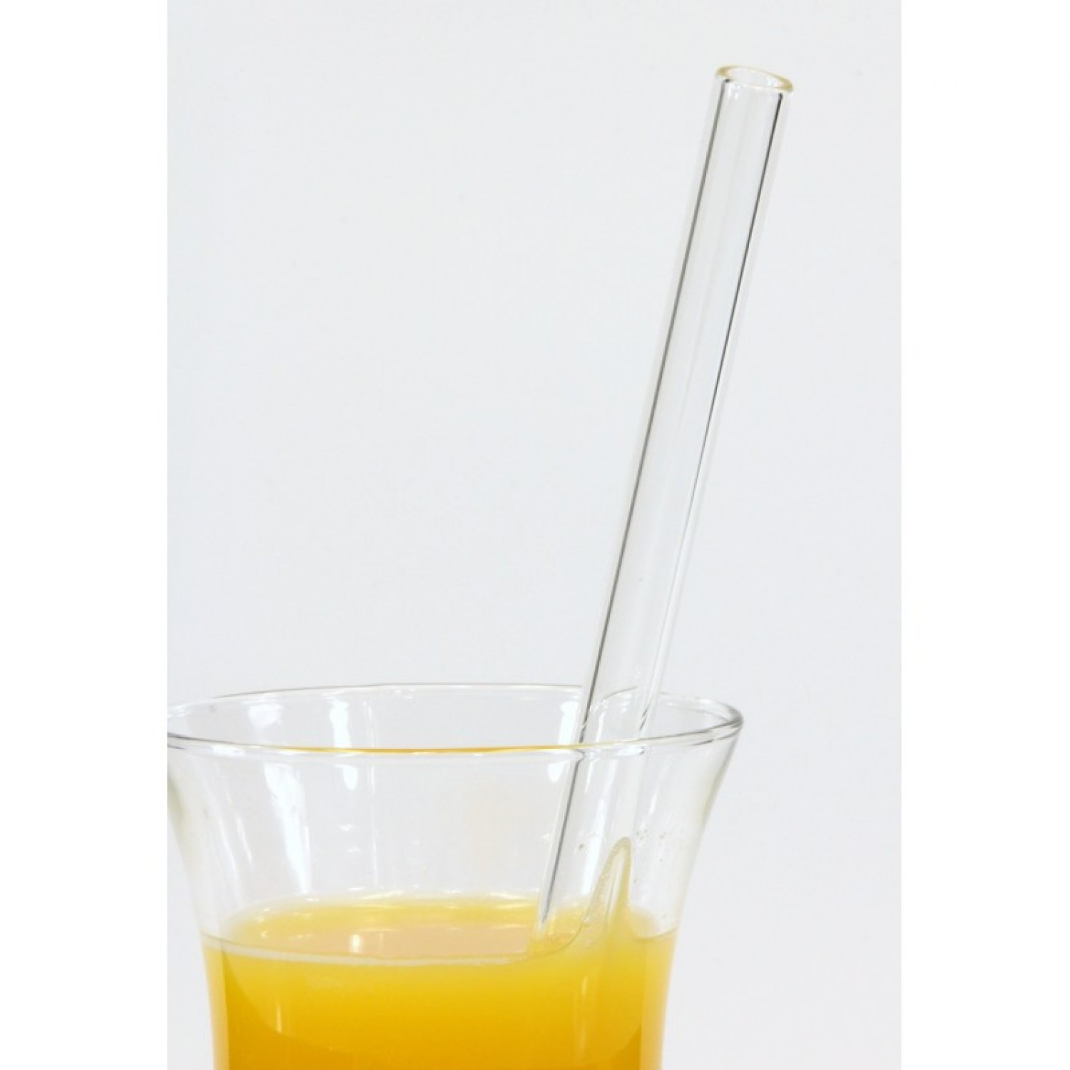 Glass drinking straw, single, straight by everstraw