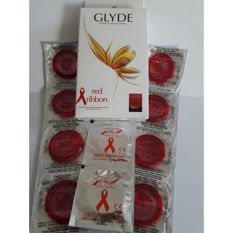 Glyde Red Ribbon Vegan Condoms