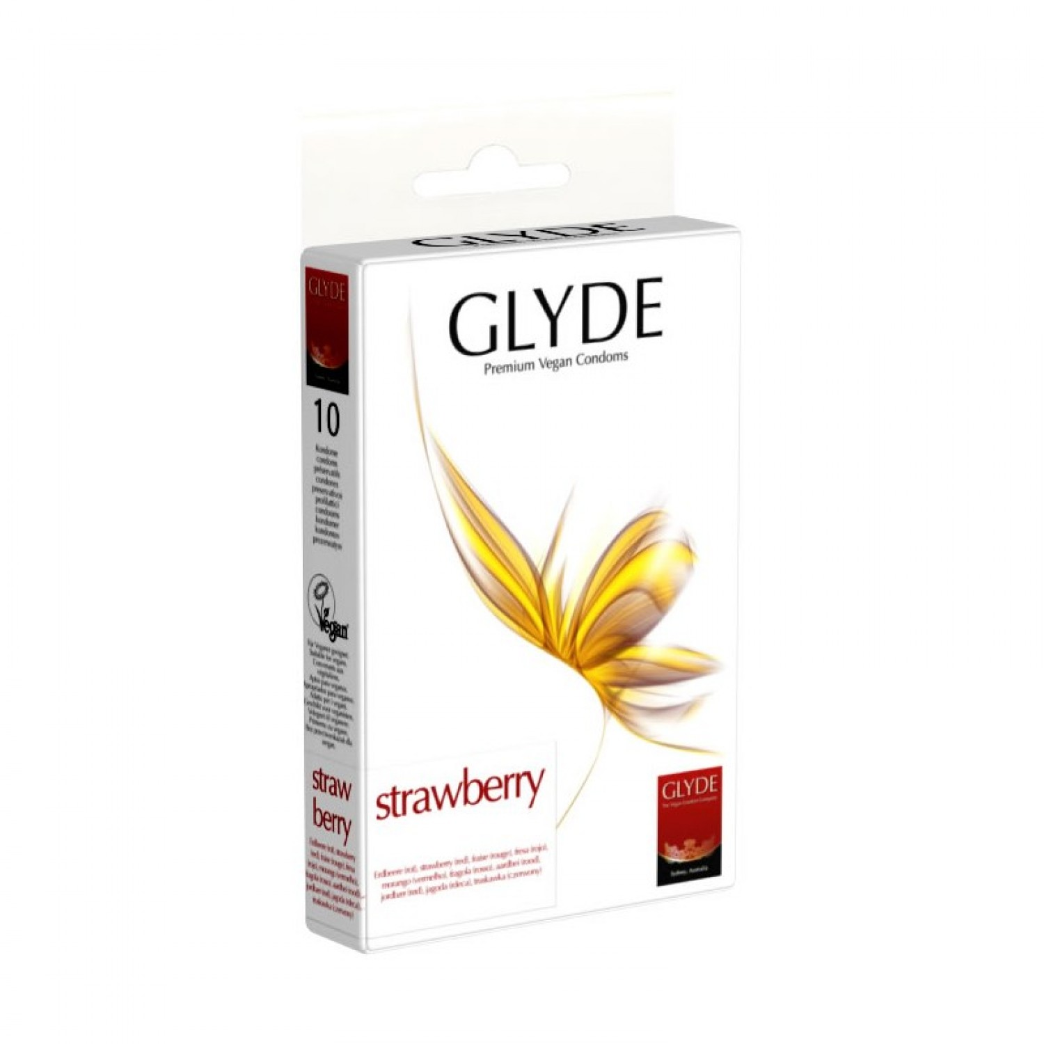 Natural rubber latex Vegan Condoms Strawberry | Glyde