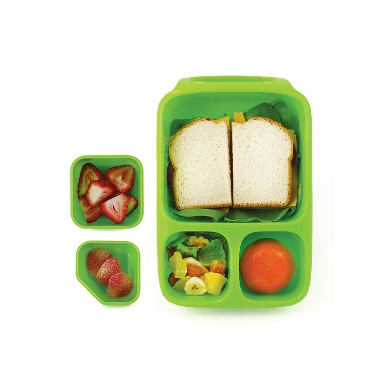 Goodbyn Hero Lunch Box mit 3 Kammern + Dippschalen