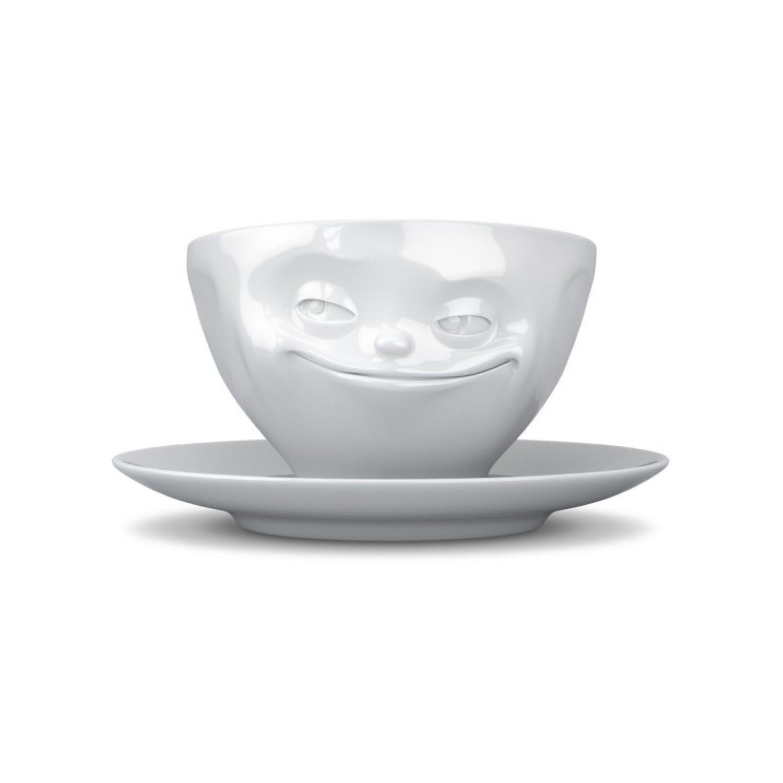 Grinsende Tasse aus Porzellan