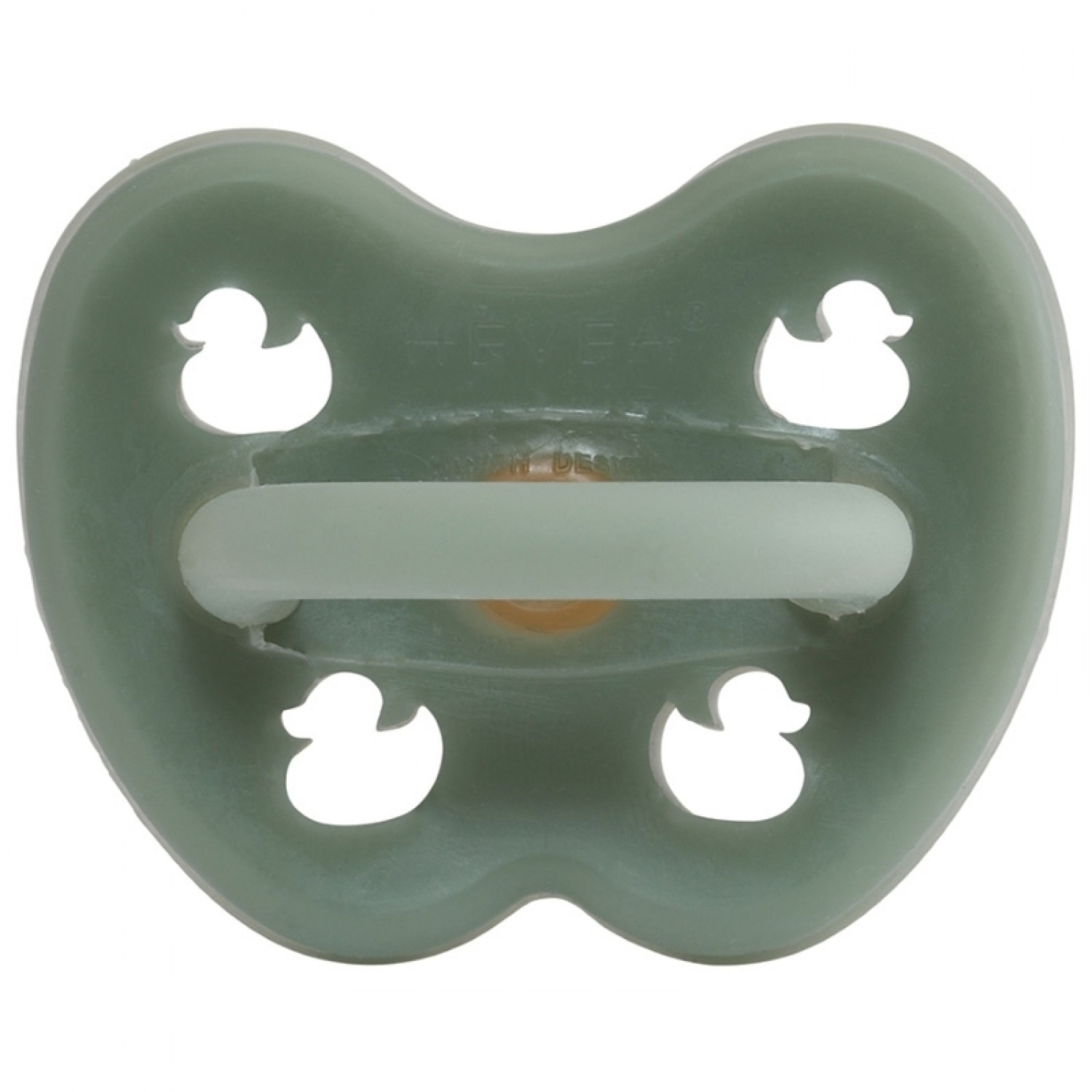 Cantaloupe, 0-3 Months HEVEA Orthodontic Pacifier Made from Natural Rubber BPA-Free and Plastic-Free