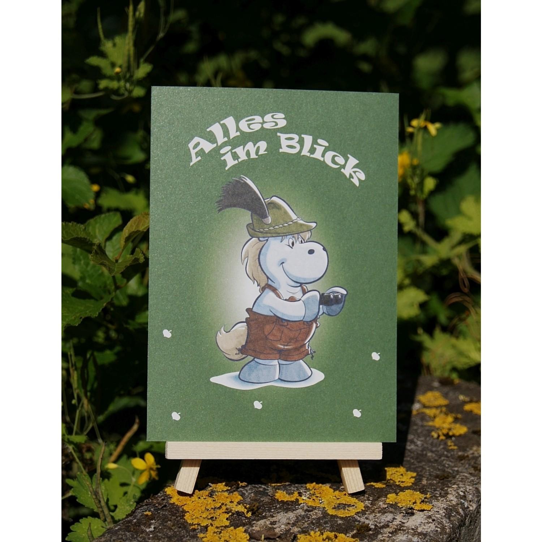 Postkarte - Mit Herz und Huf - Blick