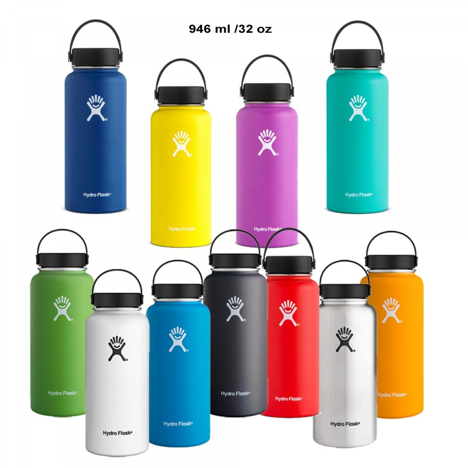 32 oz. Vacuum Insulated Stainless Steel Water Bottle Hydro Flask
