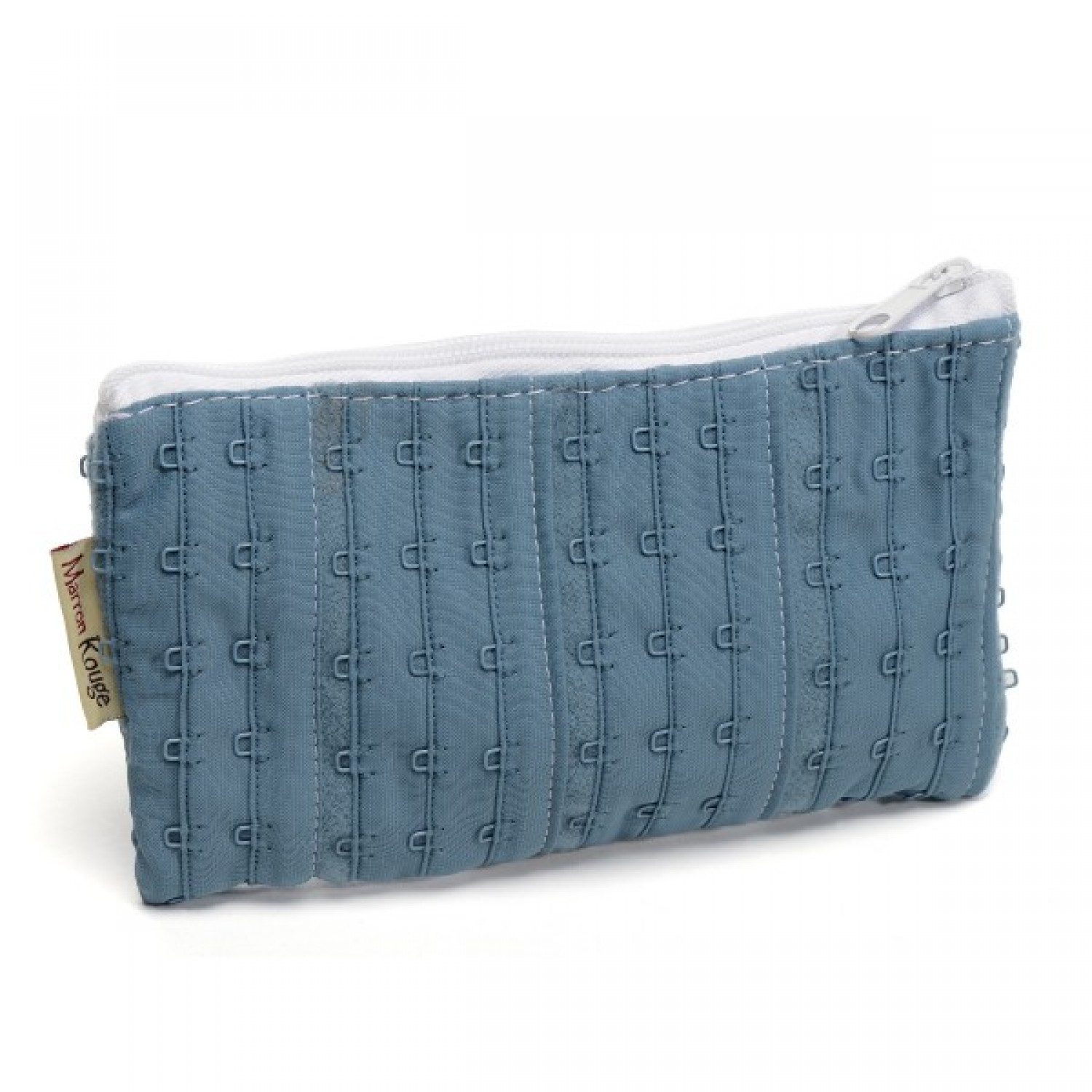 Small Pouch »Jane« made of recycled bra | Marron Rouge