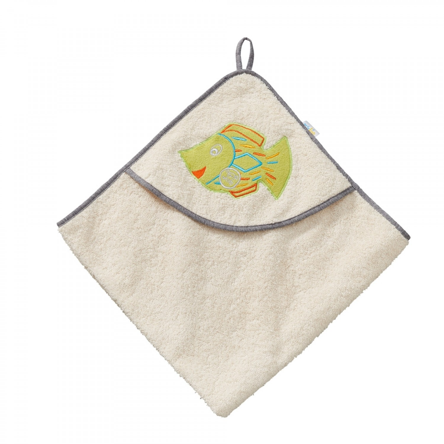 "early fish Hooded Bath Towel ""Pirate Fish"" 75x75 cm"