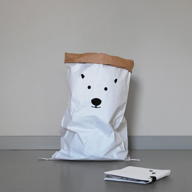 Aufbewahrungssack Öko Papiersack Eisbär | kolor