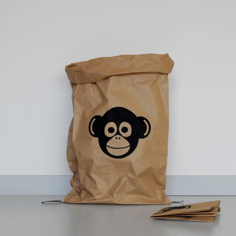 Paper Bag MONKEY made of waste paper | kolor