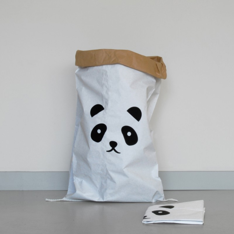 Paper Bag PANDA made of waste paper | kolor