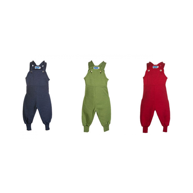 Baby Terry Cloth Bib Overalls Organic Wool/Silk