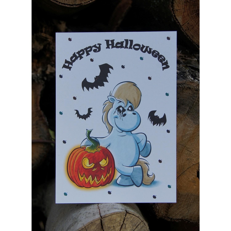 Postkarte - Grüße und Wünsche - Halloween