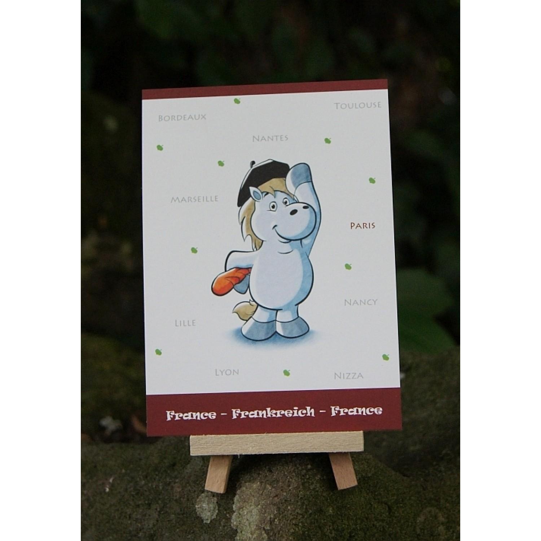 Postkarte - Weltreise - Frankreich
