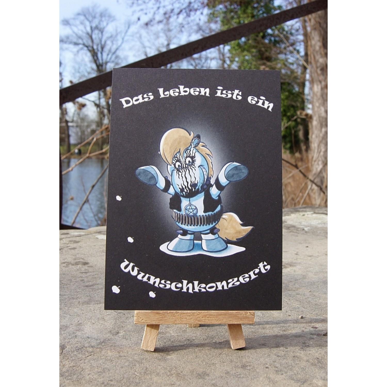 Postkarte - Mit Herz und Huf - Wunschkonzert