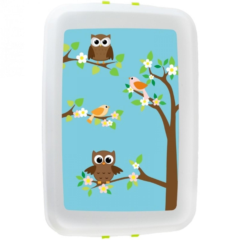 Owl lunchbox storage container bioplastics Biodora Greenpicks