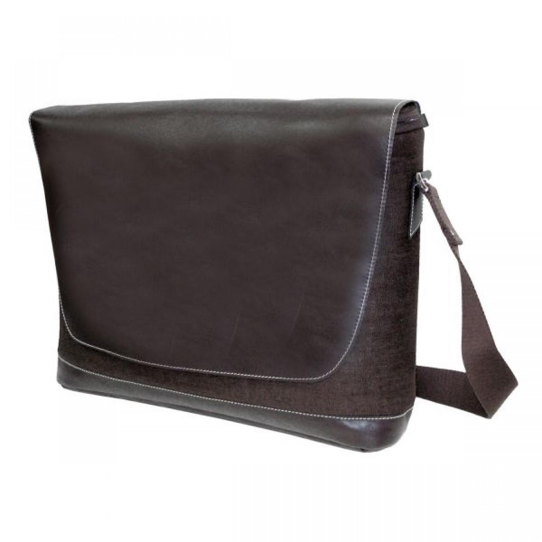 Braune Messenger Bag mit Laptop Fach