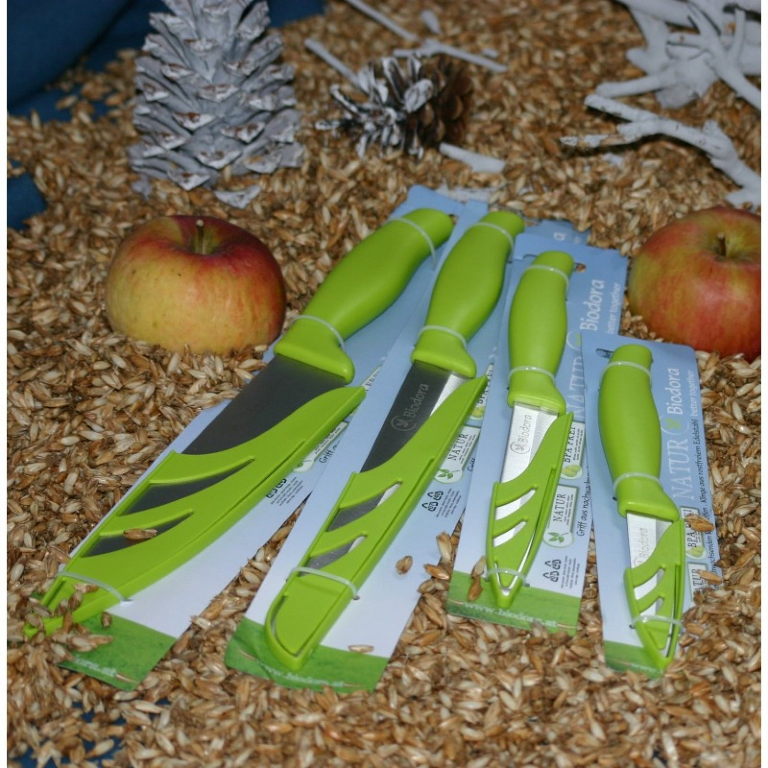 Knife Set of Stainless Steel and Bioplastic