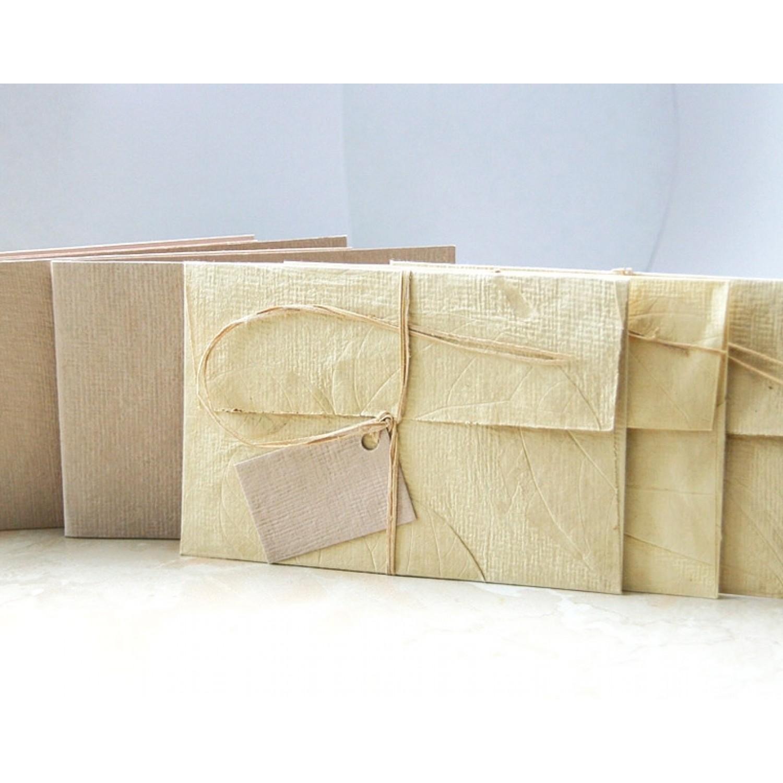 Set of 3 Greeting cards & 3 envelopes – Ecru