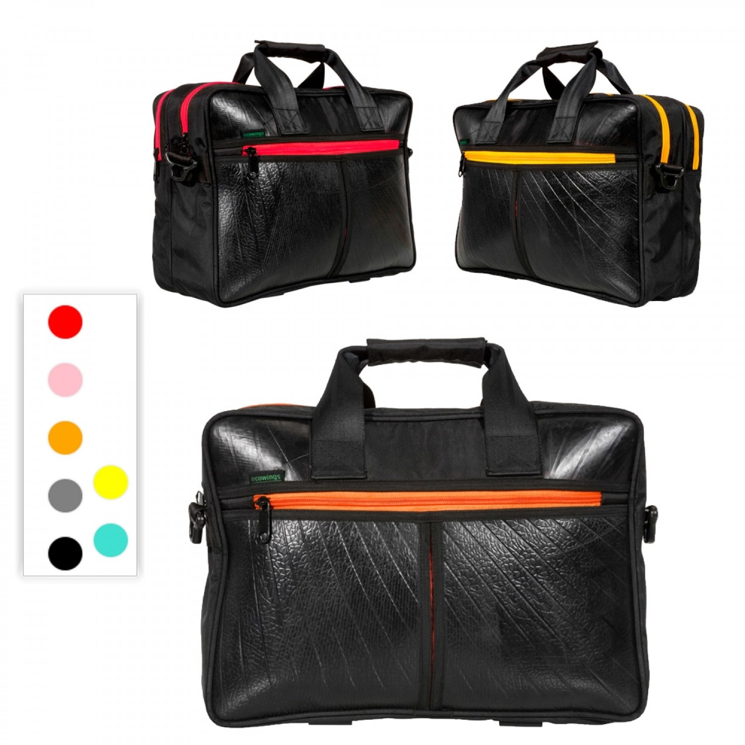 Panda upcycled Laptop Bag & Travel Bag | Ecowings