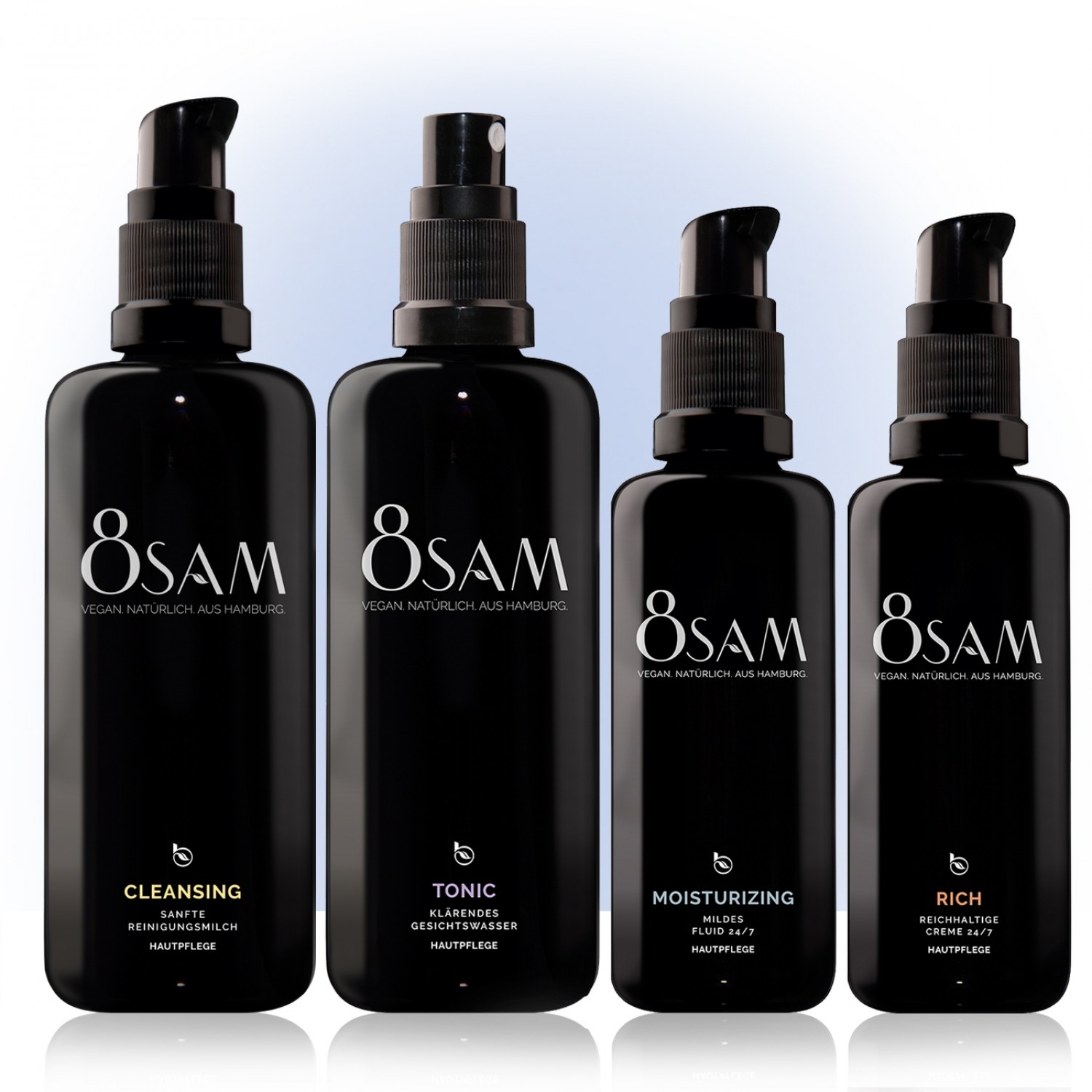 8SAM Mild Rich vegan care set No9 for face & skin | Blattkultur
